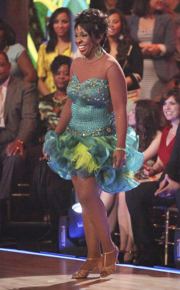 """<a target=""""_blank"""" href=""""http://tv.yahoo.com/gladys-knight/contributor/590990"""">Gladys Knight</a> performs on """"<a target=""""_blank"""" href=""""http://tv.yahoo.com/dancing-with-the-stars/show/38356"""">Dancing With the Stars</a>."""" (April 16, 2012)"""