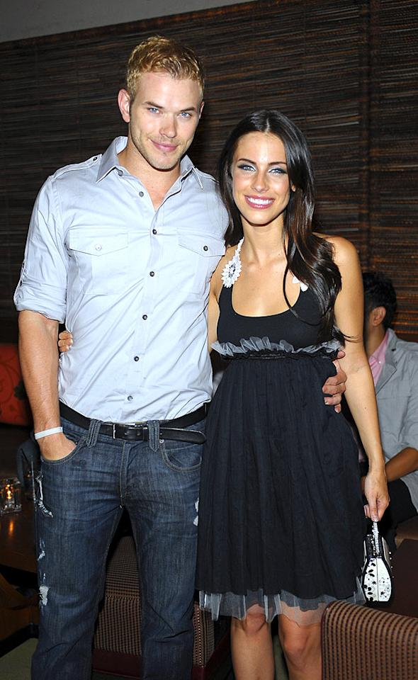 """""""Twilight"""" heartthrob Kellan Lutz and his """"90210"""" co-star Jessica Lowndes stopped for a photo op at the soiree. Stefanie Keenan/<a href=""""http://www.wireimage.com"""" target=""""new"""">WireImage.com</a> - July 29, 2009"""