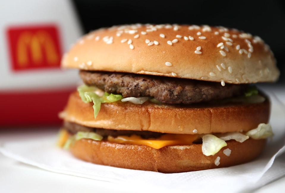 McDonalds is giving away Big Macs. (Photo by Anton Novoderezhkin\TASS via Getty Images)