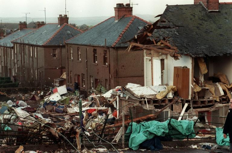The scene of devastation caused by the 1988 Lockerbie attack