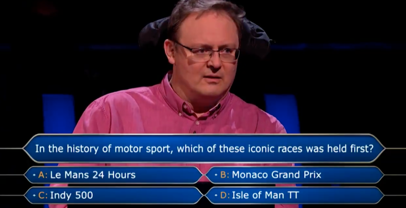 Andrew Townsley on Who Wants To Be A Millionaire