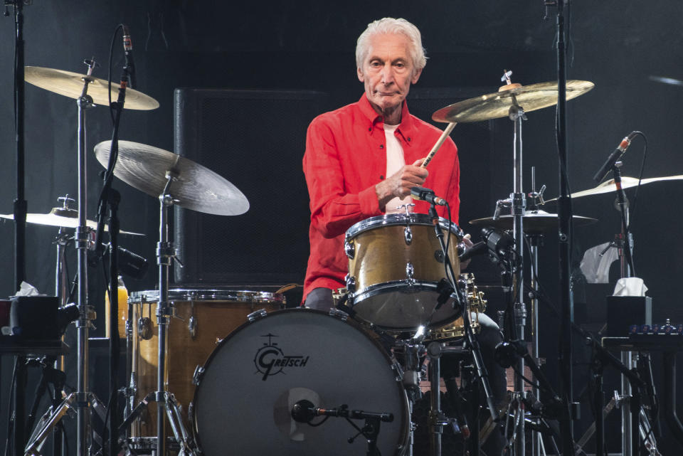 **FILE PHOTO** Charlie Watts Has Passed Away . SANTA CLARA, CALIFORNIA - AUGUST 18: Charlie Watts of The Rolling Stones performs at Levi's Stadium on August 18, 2019 in Santa Clara, California. Photo: Chris Tuite/imageSPACE/MediaPunch /IPX
