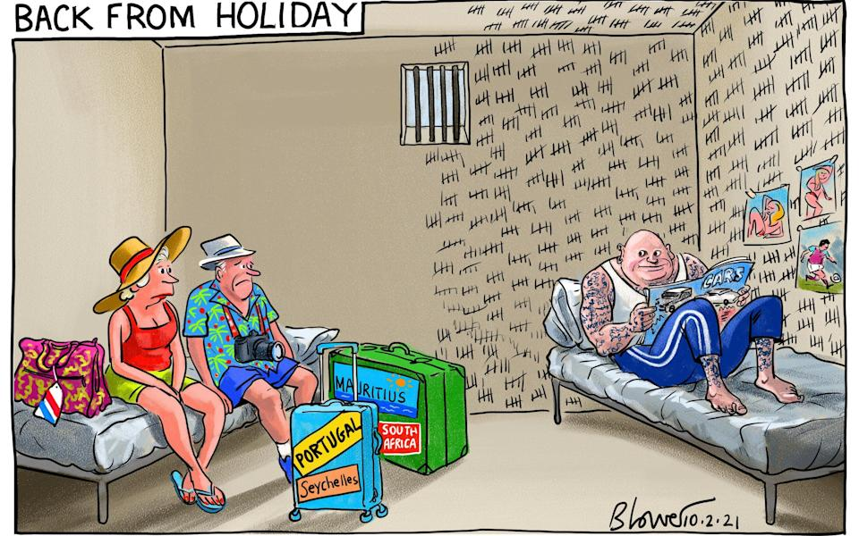 Cartoonist Blower on the punishment for trying to hide a journey to an at-risk country