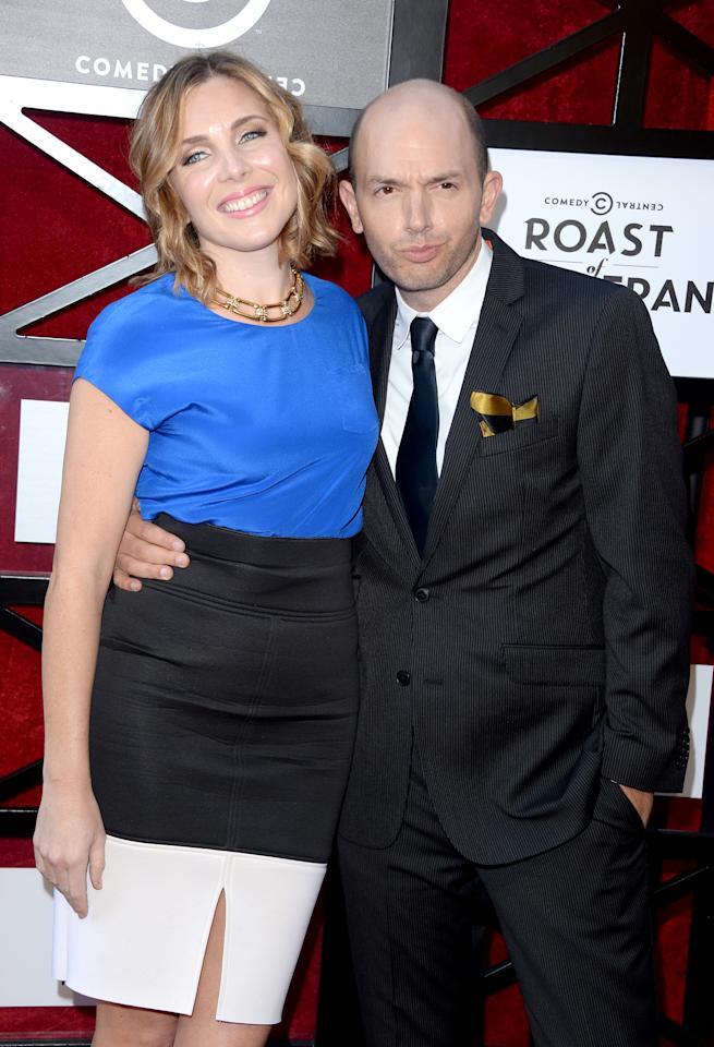 "June Diane Raphael and Paul Scheer attend ""The Comedy Central Roast of James Franco"" at Culver Studios on August 25, 2013 in Culver City, California."