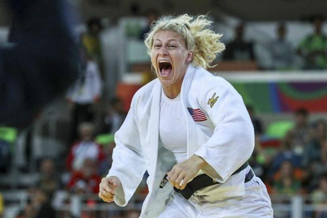 """<a class=""""link rapid-noclick-resp"""" href=""""/olympics/rio-2016/a/1160667/"""" data-ylk=""""slk:Kayla Harrison"""">Kayla Harrison</a> will make the leap to mixed martial arts after signing with World Series of Fighting. (Photo by William Volcov/Brazil Photo Press/LatinContent/Getty Images)"""