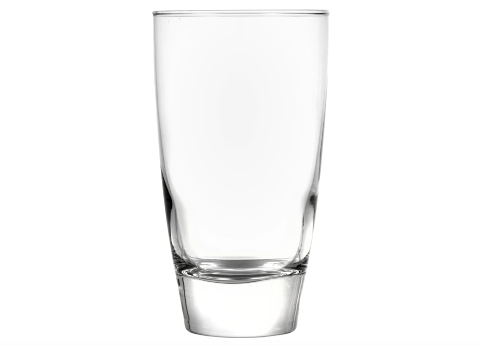 Thick-Bottom Clear Glass Coolers, 18 oz. (Photo: Dollar Tree)