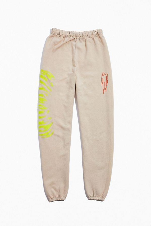 """<p>Stay cozy in these <a href=""""https://www.popsugar.com/buy/Billie-Eilish-UO-Exclusive-Jogger-Pants-515589?p_name=Billie%20Eilish%20UO%20Exclusive%20Jogger%20Pants&retailer=urbanoutfitters.com&pid=515589&price=69&evar1=fab%3Aus&evar9=46883946&evar98=https%3A%2F%2Fwww.popsugar.com%2Fphoto-gallery%2F46883946%2Fimage%2F46883952%2FBillie-Eilish-UO-Exclusive-Jogger-Pant&list1=shopping%2Curban%20outfitters%2Cbillie%20eilish&prop13=api&pdata=1"""" rel=""""nofollow"""" data-shoppable-link=""""1"""" target=""""_blank"""" class=""""ga-track"""" data-ga-category=""""Related"""" data-ga-label=""""https://www.urbanoutfitters.com/shop/billie-eilish-uo-exclusive-jogger-pant?category=billie-eilish-collection&amp;color=012"""" data-ga-action=""""In-Line Links"""">Billie Eilish UO Exclusive Jogger Pants</a> ($69).</p>"""