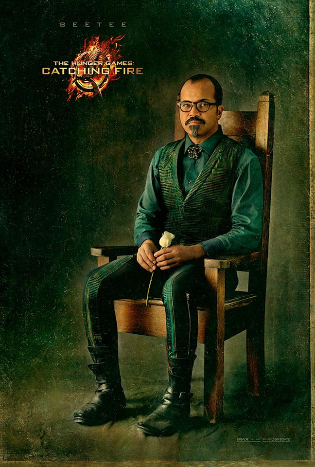 "Jeffrey as Beetee in the final Capitol Portrait for ""The Hunger Games: Catching Fire"" - 2013"