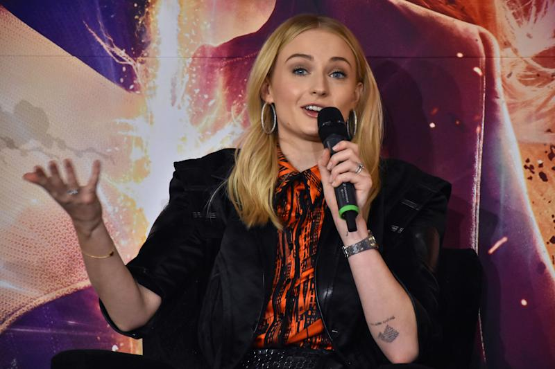X-Men Dark Phoenix - Press ConferenceBritish actress Sophie Turner speaks during a press conference to promote X-Men: Dark Phoenix at Four Season Hotel on May 15, 2019 in Mexico City, Mexico (Photo by Carlos Tischler/NurPhoto via Getty Images) (Photo: NurPhoto via Getty Images)