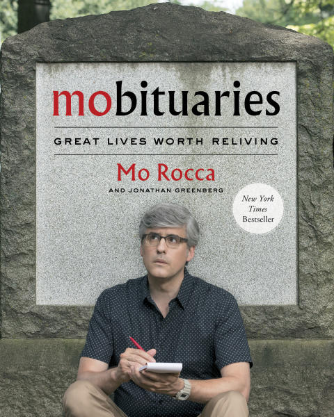 """This image released by Simon & Schuster shows """"Mobituaries: Great Lives Worth Reliving, """" by Mo Rocca and Jonathan Greenberg.  (Simon & Schuster via AP)"""