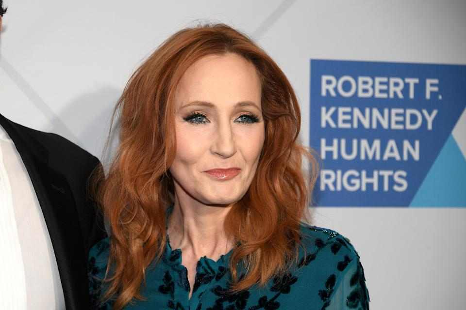Author J.K. Rowling arrives at the RFK Ripple of Hope Awards at New York Hilton Midtown on December 12, 2019.