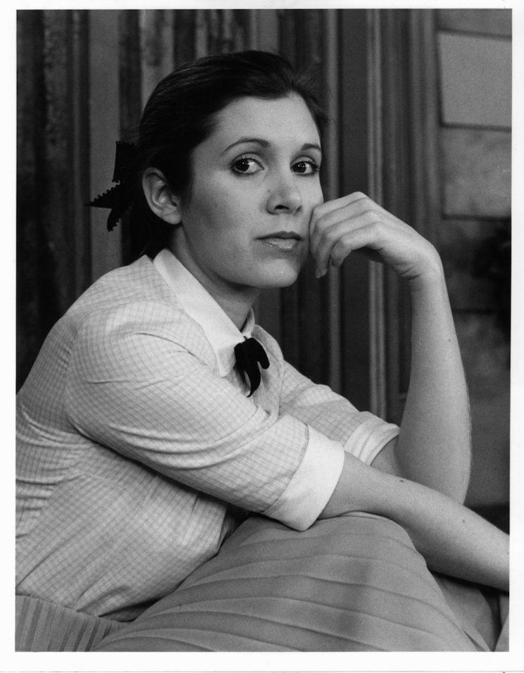 Carrie Fisher, 1977.