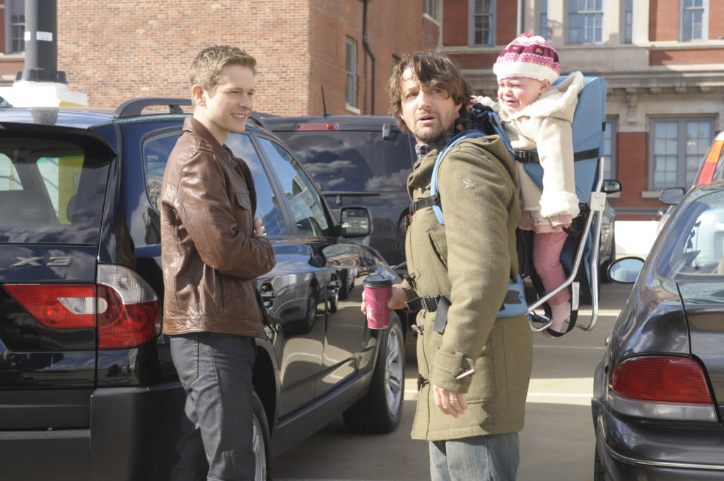 """Cary (Matt Czuchry) turns to his friend, investigator Andrew Wiley (Tim Guinee), for help in a personal matter in """"Battle of the Proxies,"""" the tenth episode of """"The Good Wife"""" Season 4."""