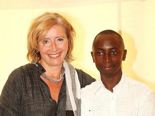 Actress Emma Thompson and her adopted son Tindyebwa Agaba, who moved in with her family at the age of 14 as a child refugee: Getty Images