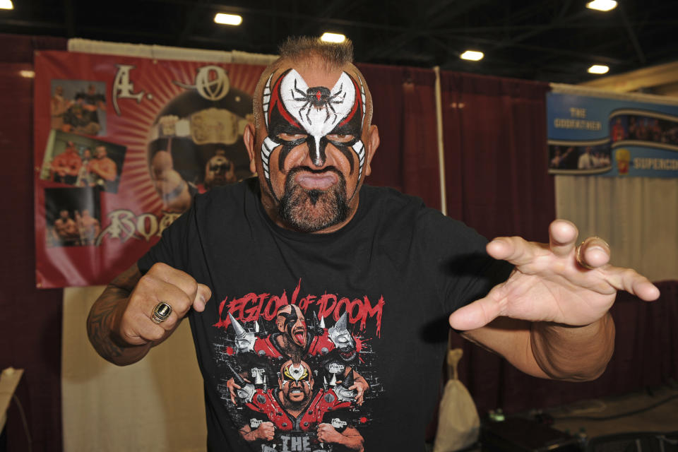 Joseph Laurinaitis aka 'Animal' of The Road Warriors Has Passed Away At 60. MIAMI BEACH, FL - JULY 02: Road Warrior Animal attends Florida Supercon at The Miami Beach Convention Center on July 2, 2016 in Miami Beach, Florida. Credit MPI04/MediaPunch /IPX