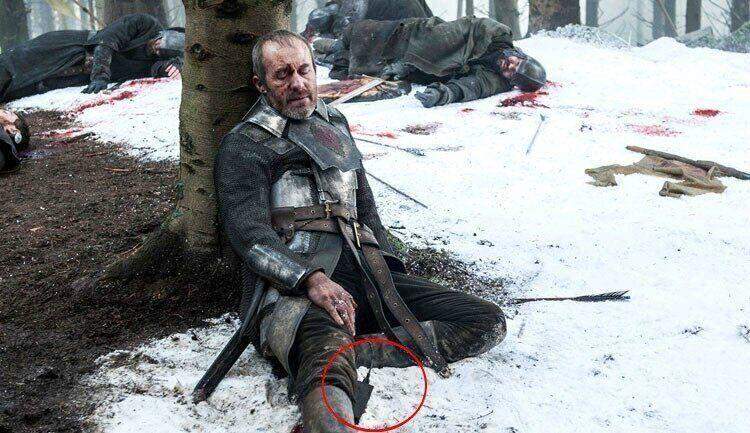 Stannis managed to nab a souvenir from the 21st century. Photo: HBO