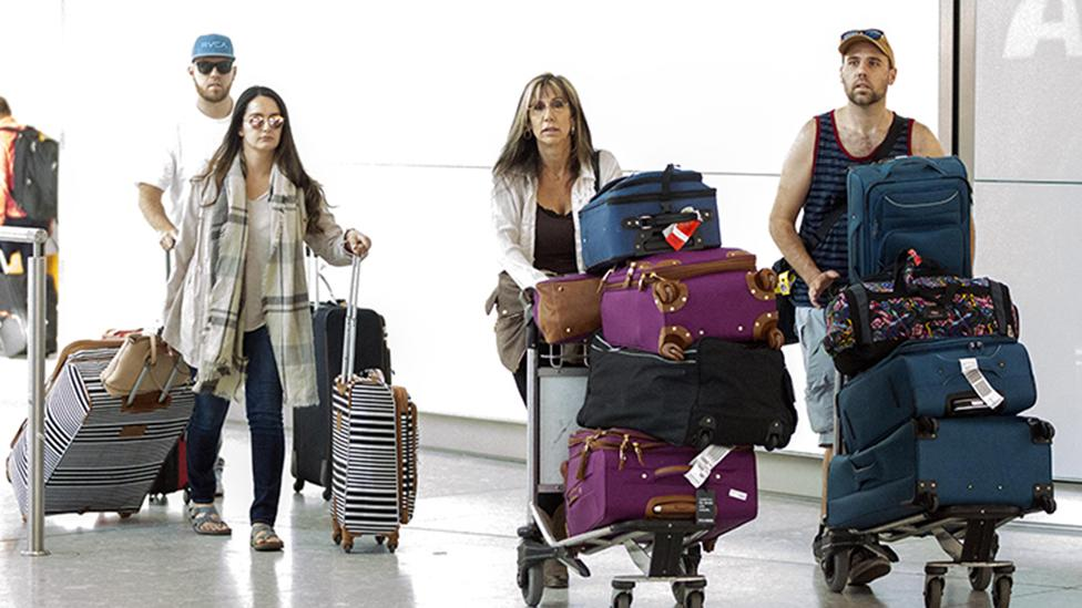 <p>Meghan Markle's extended family have arrived at London's Heathrow airport ahead of the royal wedding, despite not recieving an invite. Source: AustralScope </p>