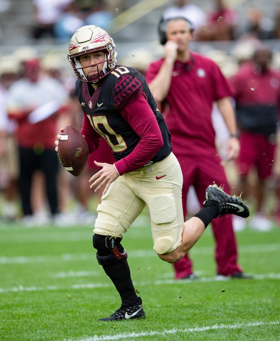 Florida State Seminoles quarterback McKenzie Milton finished 6-of-11 for 96 yards and a touchdown intwo-quarters worth of work on Saturday