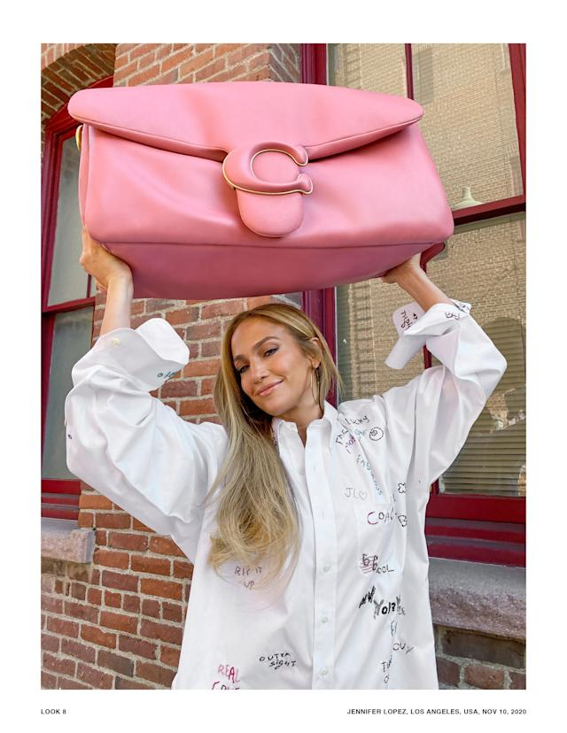 Larger than life: Jennifer Lopez and friends launch Coach's Pillow Tabby bag