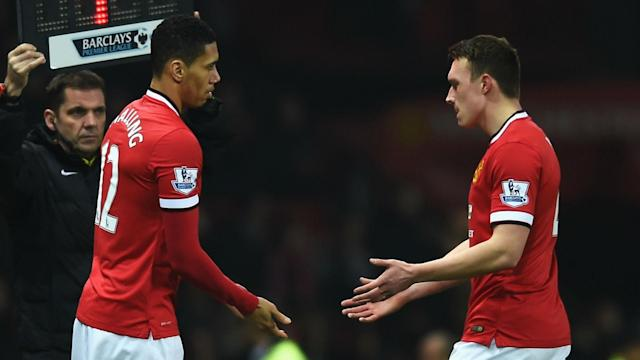 Manchester United will be without Chris Smalling and Phil Jones for the foreseeable future, but Wayne Rooney is fit again.