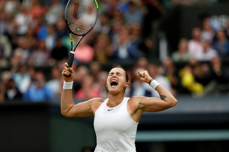 Belarus's Aryna Sabalenka sports a tattoo of a tiger which reflects the 23-year-old's spirit and power that has seen her reach the Wimbledon semi-finals for the first time