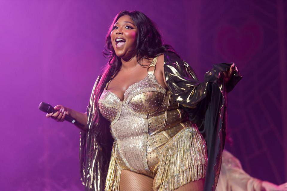 You've got to love a body positive message from Lizzo. (Getty Images)