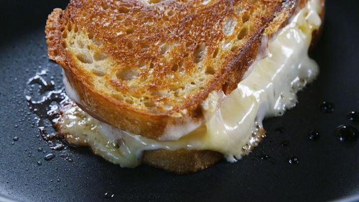 """<p>This one might seem a little out there, but it's a salty and sweet combination that can't be missed.</p><p><em><strong>Get the recipe at <a href=""""https://www.delish.com/cooking/recipe-ideas/a34364203/pineapple-grilled-cheese-recipe/"""" rel=""""nofollow noopener"""" target=""""_blank"""" data-ylk=""""slk:Delish."""" class=""""link rapid-noclick-resp"""">Delish.</a></strong></em></p>"""