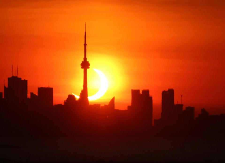 Thursday's annular eclipse wows early-risers across North America
