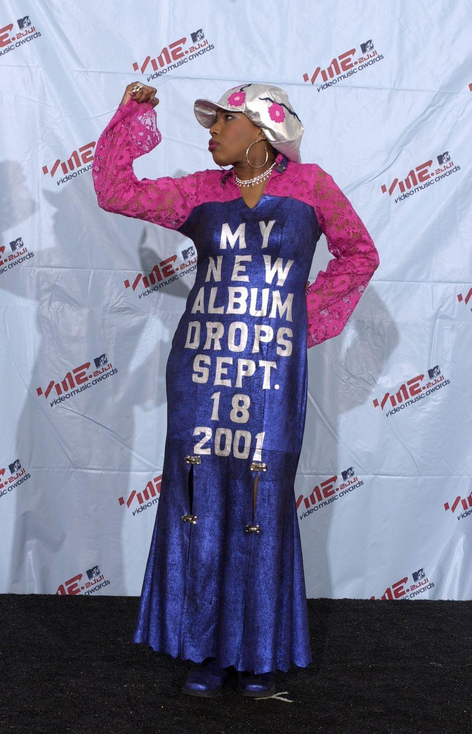 <p>Macy Gray had the ingenious idea of promoting her new album on the VMAs red carpet. Shame about the pink and purple combo.</p>