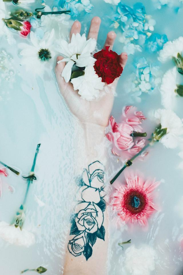 <p>To keep your tattoo from getting infected, Santana suggested avoiding submerging it in pools, hot tubs, oceans, lakes, or going in a sauna.</p>