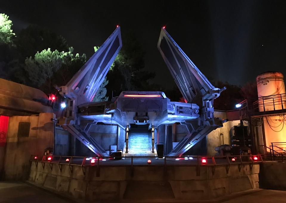The TIE Echelon shuttle was based on a concept originally created for the films. (Photo: Yahoo Entertainment)
