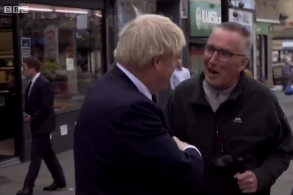 The man politely told Mr Johnson: please leave my town: BBC