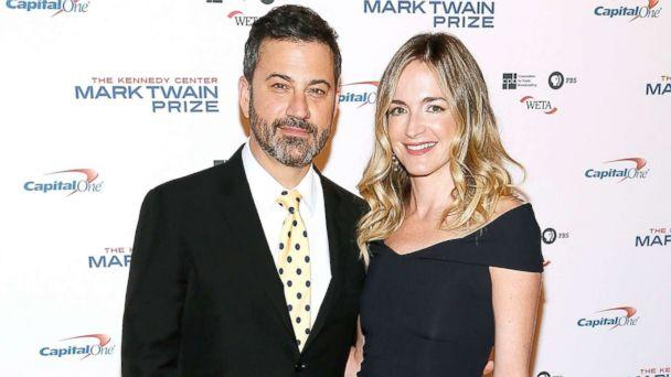 PHOTO: Jimmy Kimmel and his wife Molly McNearney arrive to the 2017 Mark Twain Prize for American Humor at The Kennedy Center, Oct. 22, 2017, in Washington, D.C. (Paul Morigi/Getty Images)