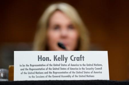 Kelly Craft testifies before a Senate Foreign Relations Committee hearing on her nomination to be U.S. ambassador to the United Nations in Washington