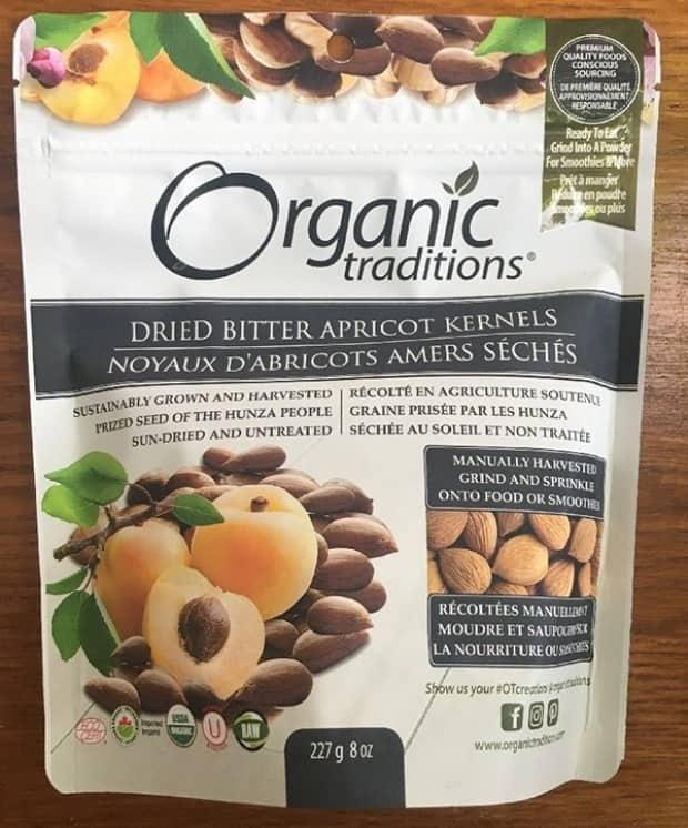 Organic Traditions dried bitter apricot kernels is one of several products recalled because of the possibility of cyanide poisoning. (Submitted by the Canadian Food Inspection Agency - image credit)