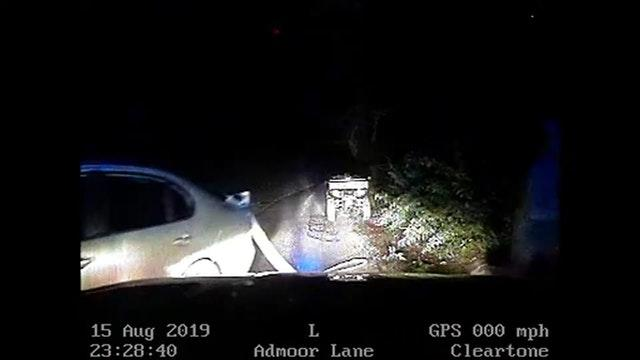 Screengrab showing a quad bike which was attached to a Seat car