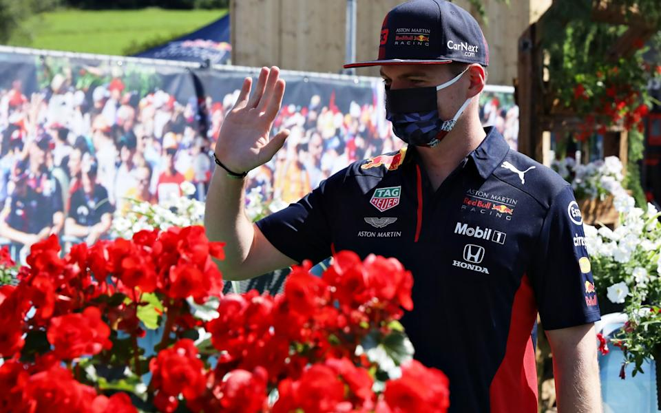 Max Verstappen of Netherlands and Red Bull Racing talks to fans on the Virtual Fan Walk before final practice for the Formula One Grand Prix of Austria at Red Bull Ring on July 04, 2020 in Spielberg, Austria - Getty Images