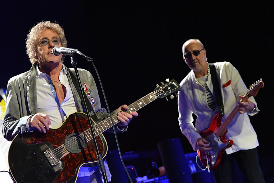 The Who's Roger Daltrey and Pete Townsend both commented on the collection. (Photo by Rick Diamond/Getty Images)