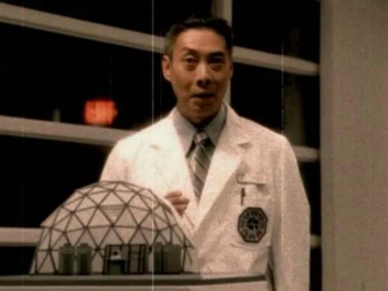 François Chau as Dr Marvin Candle from the hatch orientation video in season two (Buena Vista)