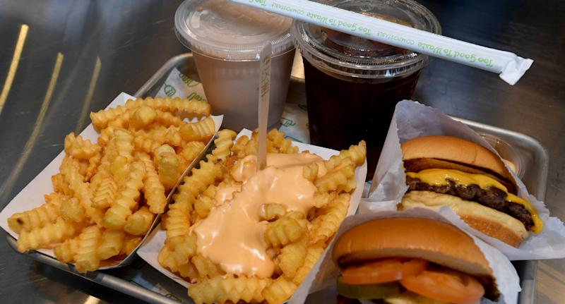 All officers were believed to have ingested bleach in their Shake Shack drink (not from the meal pictured). Source: Getty Images