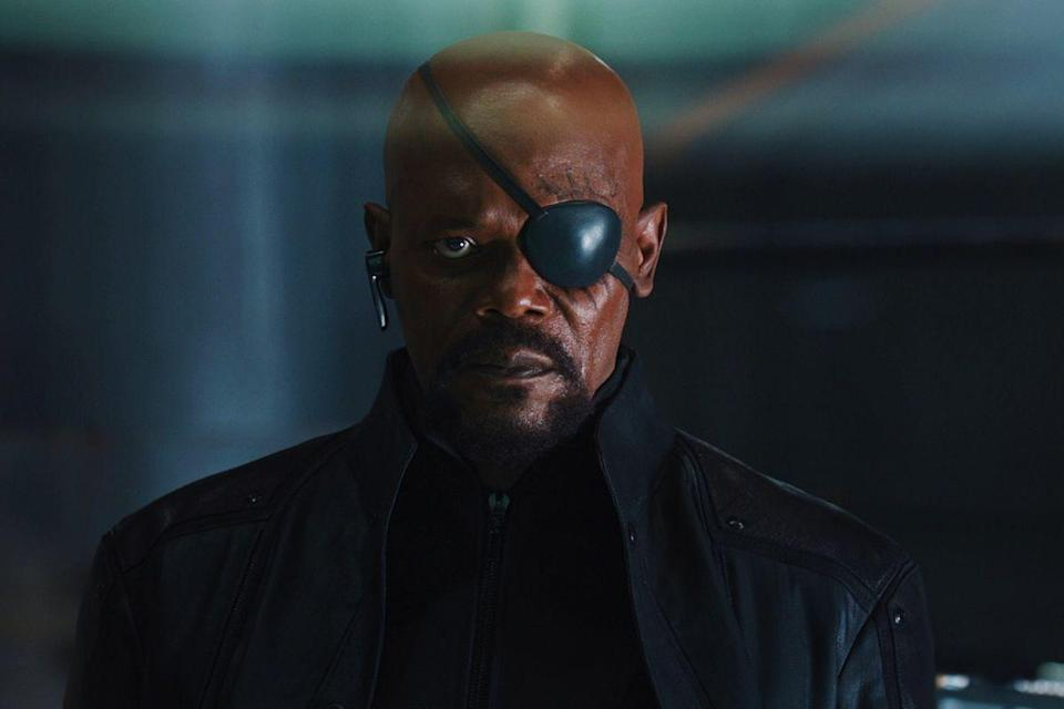 <p>Eye patch. All black. Boom. (Bald head recommended.) </p>