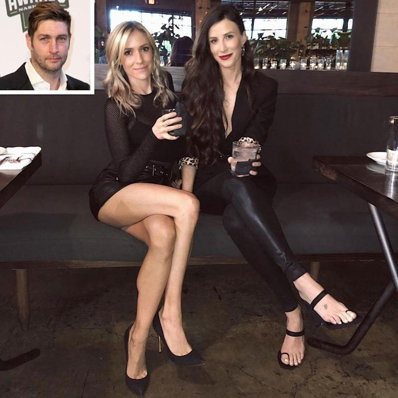 Kristin Cavallari (left) and Kelly Henderson (inset: Jay Cutler) | Kelly Henderson/ Instagram; Jared C. Tilton/Getty
