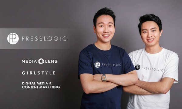 Founders of PressLogic, Ryan Cheung as CEO (Left in the photo) and Edward Chow as CTO.