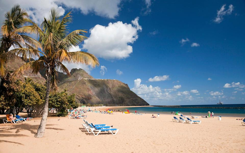 Tenerife is on the amber list, but still proving popular with holiday-searching Britons - Getty
