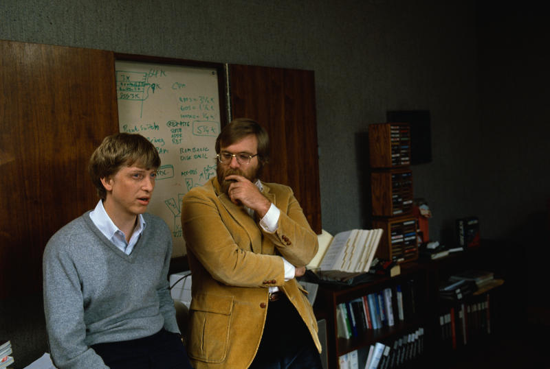 Los fundadores de Microsoft Bill Gates y Paul Allen en 1984. Foto: © Doug Wilson/CORBIS/Corbis via Getty Images.