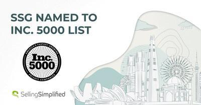 Selling Simplified Group, Inc. (SSG) ranked 4,187 on Inc. 5000 list recognizing America's fastest-growing private companies