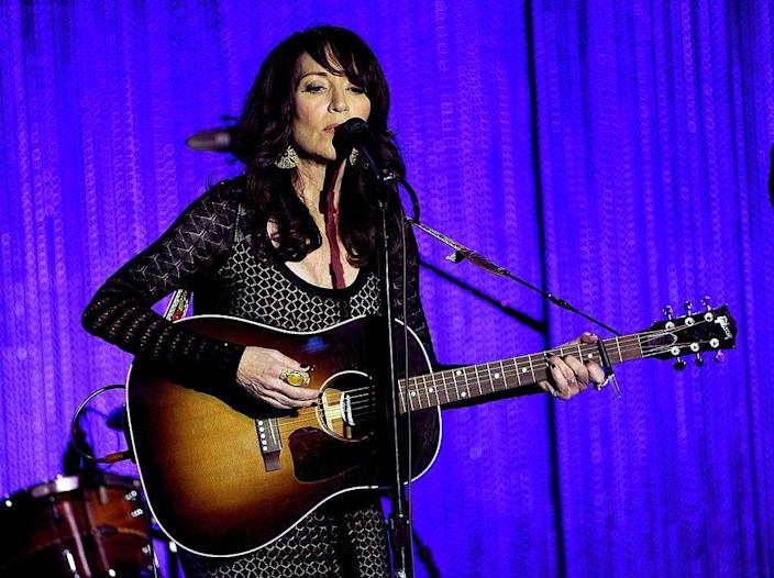 Katey Sagal performs onstage during The Paley Center for Media's 2013 benefit gala.