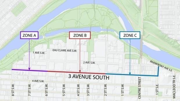 There are three zones, each with a number of options depending on limitations of the existing road.There could be shared lanes, or a cycle track. The city's also looking at parking changes, like angle parking, to increase capacity.