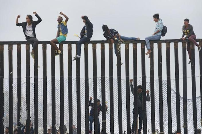 The US-Mexico border fence at San Ysidro, California: the Trump adminsitration's new rules are part of a broader crackdown on immigrants (AFP Photo/Sandy Huffaker)