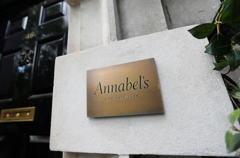 Annabel's private members club is seen in London